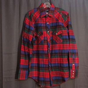 Wrangler Heavy Flannek Button Down